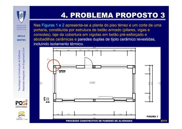 DECivil GESTEC 6767//7171 TecnologiadaConstruçãodeEdifícios MestradoIntegradoemEngenhariaCivil 4. PROBLEMA PROPOSTO 34. PR...