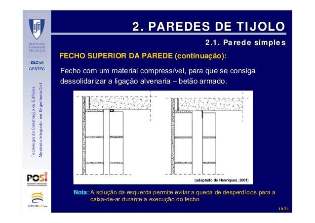 DECivil GESTEC 1919//7171 TecnologiadaConstruçãodeEdifícios MestradoIntegradoemEngenhariaCivil Fecho com um material compr...