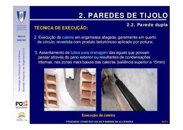 DECivil GESTEC 2828//7171 TecnologiadaConstruçãodeEdifícios MestradoIntegradoemEngenhariaCivil 2. Execução de caleira em a...
