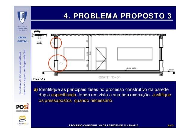 DECivil GESTEC 6868//7171 TecnologiadaConstruçãodeEdifícios MestradoIntegradoemEngenhariaCivil 4. PROBLEMA PROPOSTO 34. PR...