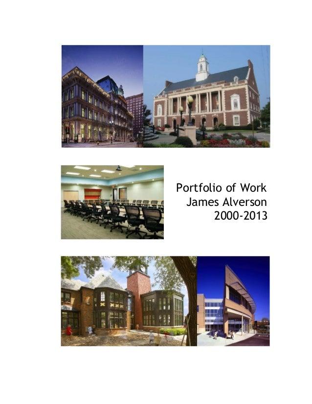 Portfolio of Work James Alverson 2000-2013
