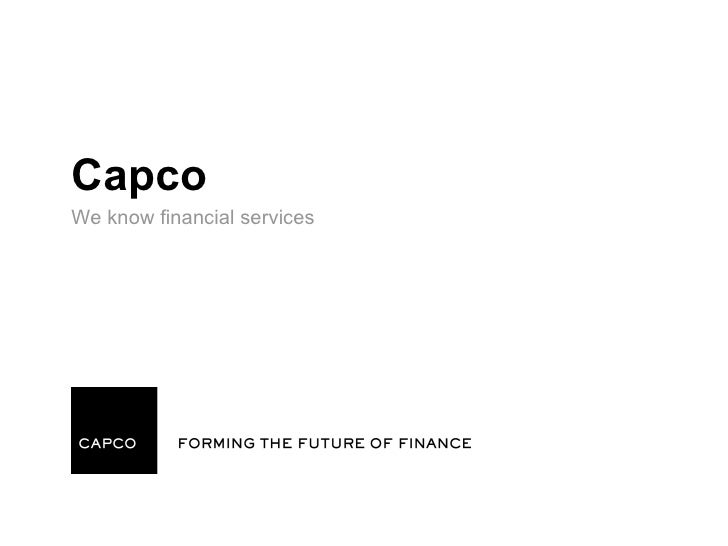 CapcoWe know financial services