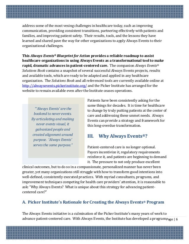 Always events blueprint for action the grantee organizations have used the always events concept to page 5 7 malvernweather Images