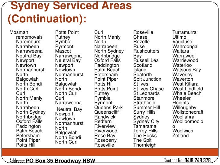 Sydney Serviced Areas(Continuation):Mosman           Potts Point   Curl           Roseville       Turramurra  remomovals  ...