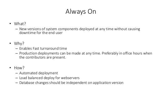 Always On - Zero Downtime releases Slide 2