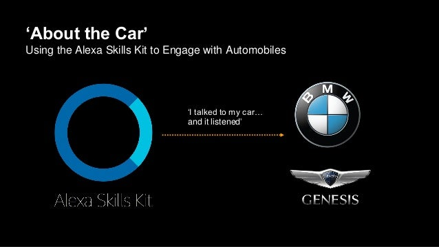 'About the Car' Using the Alexa Skills Kit to Engage with Automobiles 'I talked to my car… and it listened'