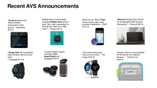 AWS re:Invent 2016: Tips and Tricks on Bringing Alexa to