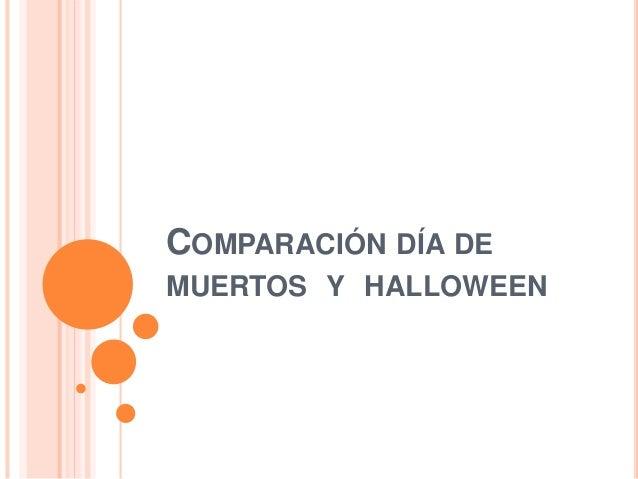 COMPARACIÓN DÍA DE MUERTOS Y HALLOWEEN