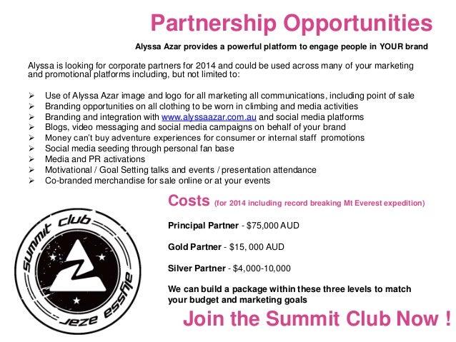 Alyssa Azar Sponsorship Proposal 2014 Mt Everest