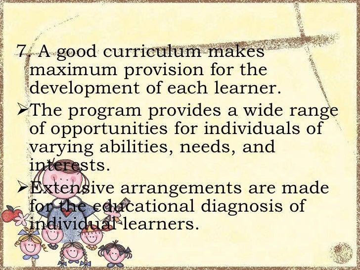 criteria for curriculum assessment pdf