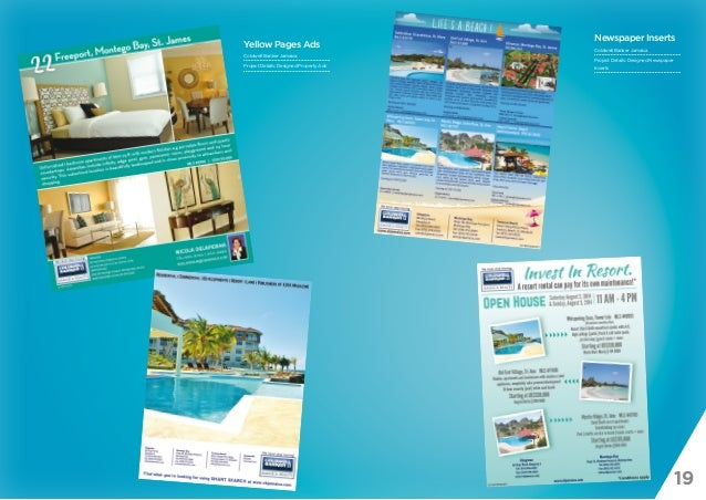 19 Yellow Pages Ads Coldwell Banker Jamaica Project Details: Designed Property Ads Newspaper Inserts Coldwell Banker Jamai...