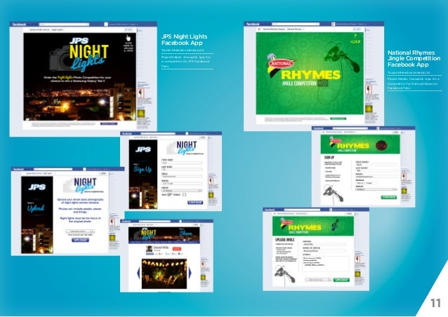 11 JPS Night Lights Facebook App Toucan Interactive Jamaica Ltd. Project Details: Concept & App for a competition for JPS ...