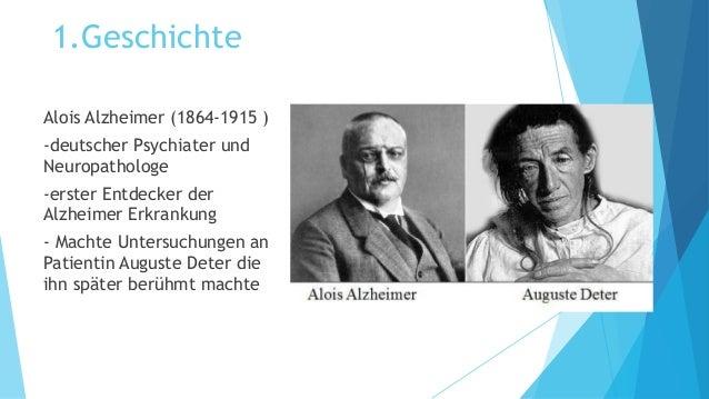Alois Alzheimer Auguste Deter