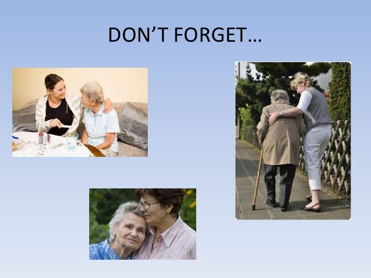DON'T FORGET…<br />