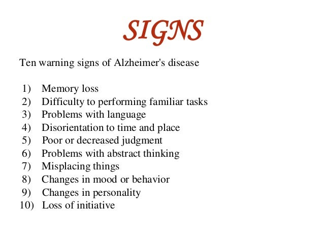 Causes & Effects of Alzheimers & Dementia