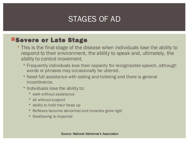 Final stage alzheimers