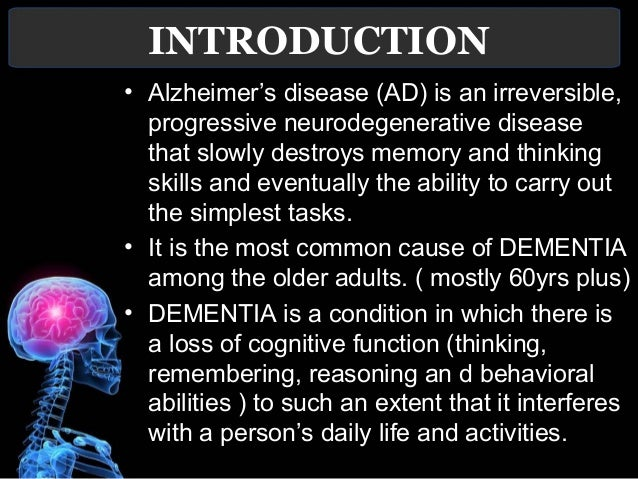 an introduction to the history of alzheimers Description: this web page provides a brief introduction to alzheimer's disease including the biological changes in the disease, a discussion of the history of this disease, and the difference between early stages of alzheimer's disease and early onset alzheimer's.
