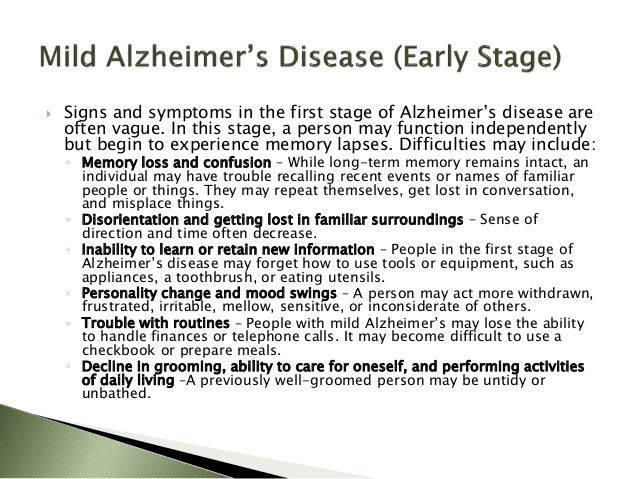 the stages of alzheimers disease essay Alzheimer's disease  (ad), also referred to simply as alzheimer's,  the early stages of alzheimer's disease are difficult to diagnose.