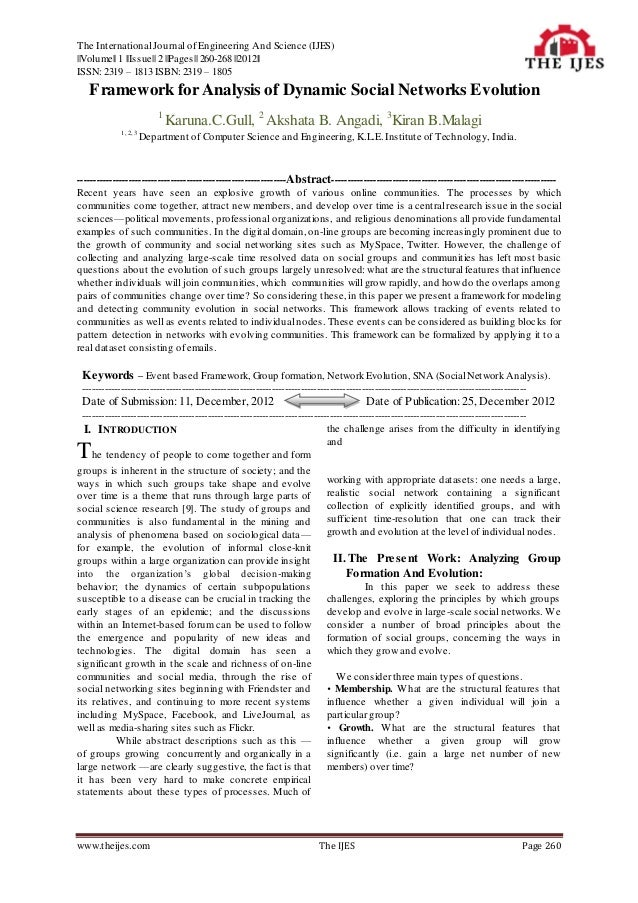 The International Journal of Engineering And Science (IJES)||Volume|| 1 ||Issue|| 2 ||Pages|| 260-268 ||2012||ISSN: 2319 –...