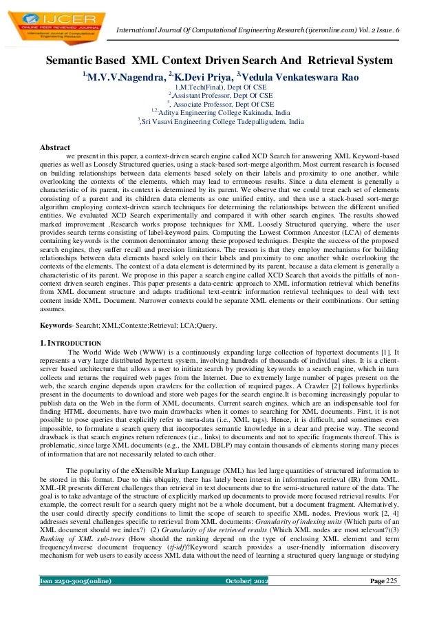 International Journal Of Computational Engineering Research (ijceronline.com) Vol. 2 Issue. 6  Semantic Based XML Context ...
