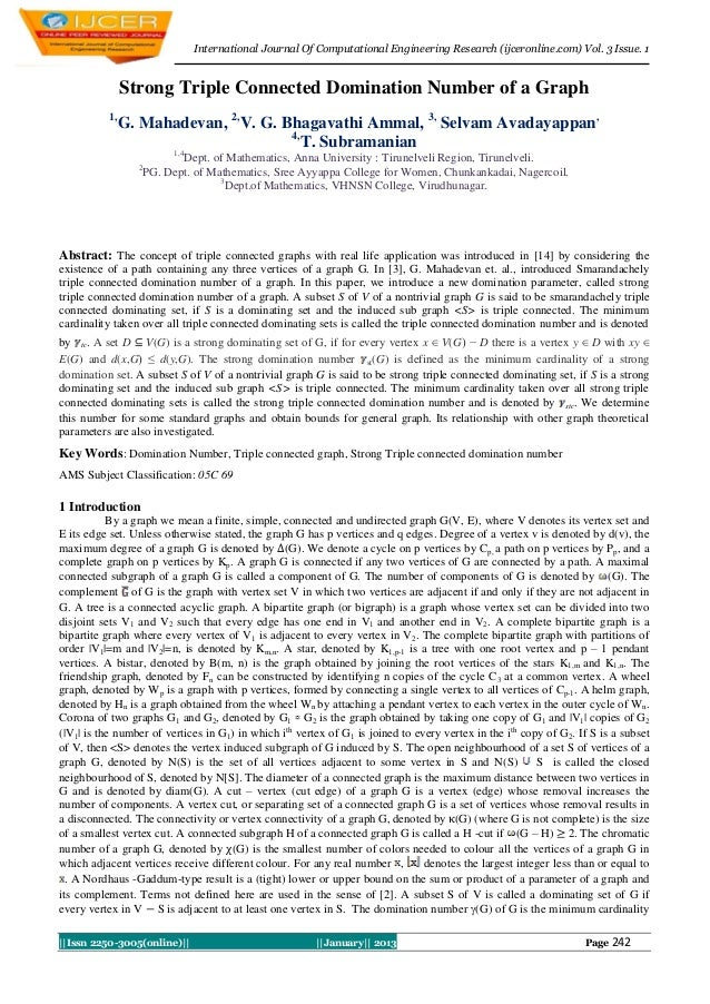 International Journal Of Computational Engineering Research (ijceronline.com) Vol. 3 Issue. 1                Strong Triple...