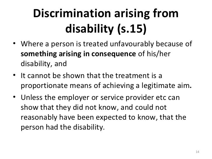 Definition Of Direct Discrimination Equality Act 2010 ...