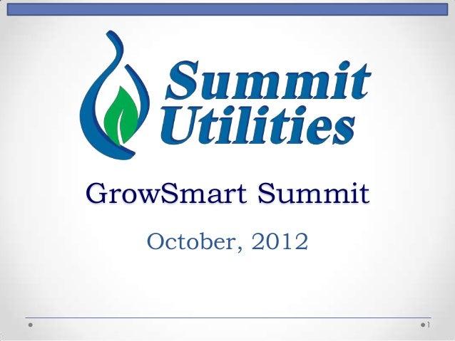 GrowSmart Summit   October, 2012                   1