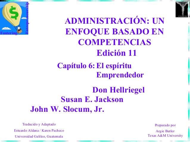 Entrepreneurship                                         ADMINISTRACIÓN: UNFostering                                ENFOQU...