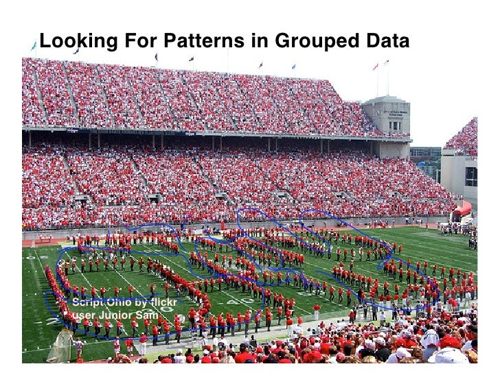Looking For Patterns in Grouped Data        Script Ohio by flickr    user Junior Sam