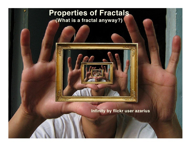 Properties of Fractals  (What is a fractal anyway?)                    Infinity by flickr user azarius