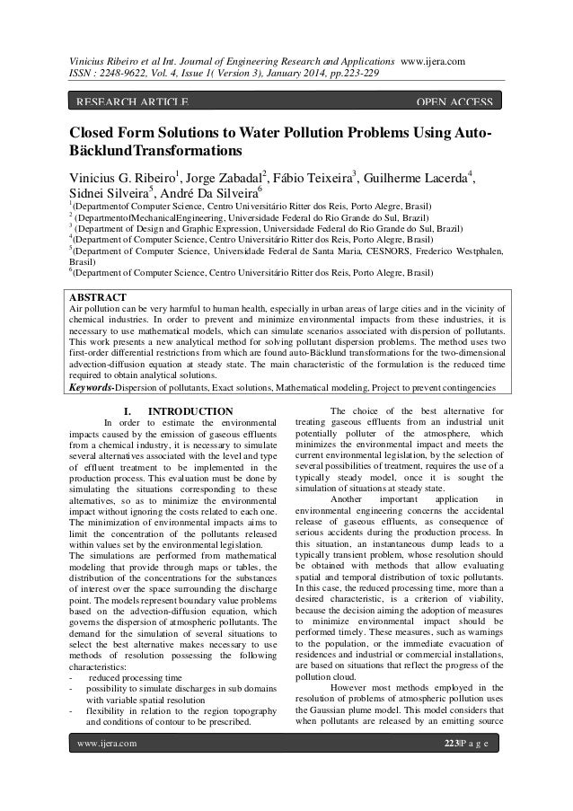 Vinicius Ribeiro et al Int. Journal of Engineering Research and Applications www.ijera.com ISSN : 2248-9622, Vol. 4, Issue...