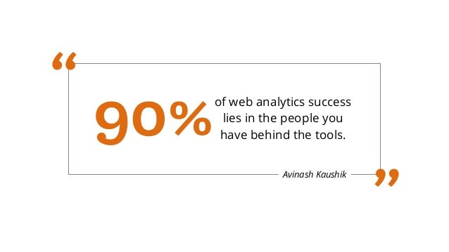 """Avinash Kaushik of web analytics success lies in the people you have behind the tools.90% """" """""""
