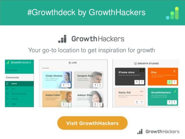 #Growthdeck by GrowthHackers e Your go-to location to get inspiration for growth