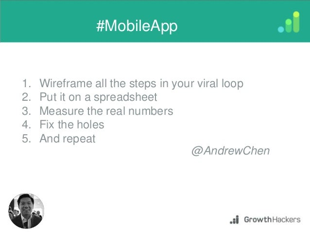 1. Wireframe all the steps in your viral loop 2. Put it on a spreadsheet 3. Measure the real numbers 4. Fix the holes 5. A...