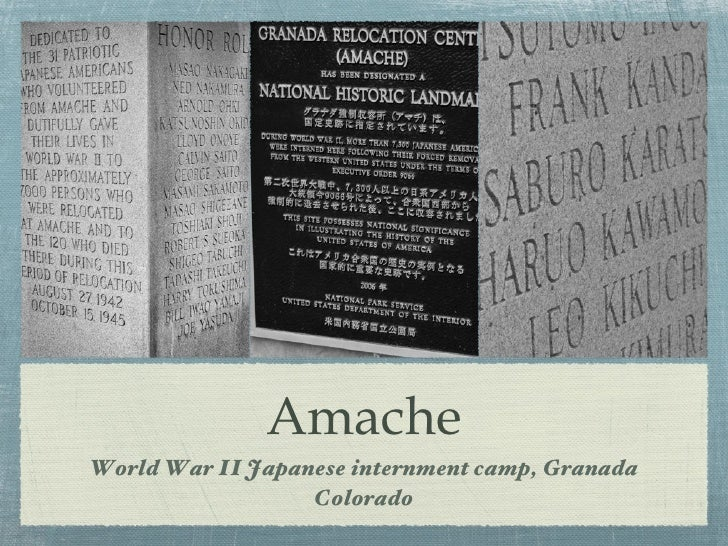 AmacheWorld War II Japanese internment camp, Granada                  Colorado