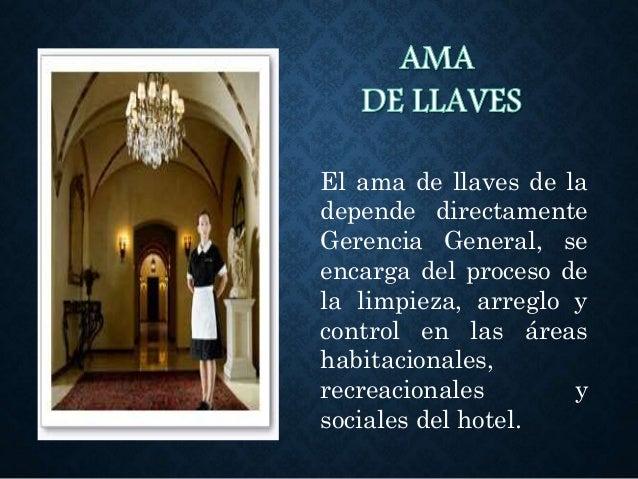 AMA DE LLAVES EN UN HOTEL