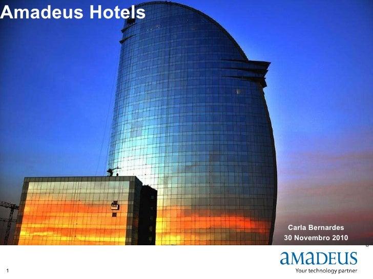 Amadeus Hotels  Carla Bernardes 30 Novembro 2010