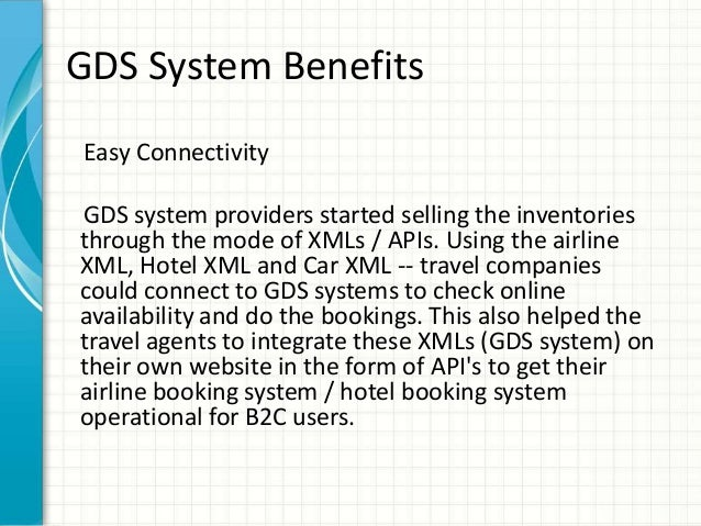 a look at the how the sabre reservation system In short, the global distribution system (gds) is a travel agent's motherboard for   so it might seem pretty odd for me to show up here and say that many  the  four largest gdss are: amadeus, sabre, travelport (which is the.