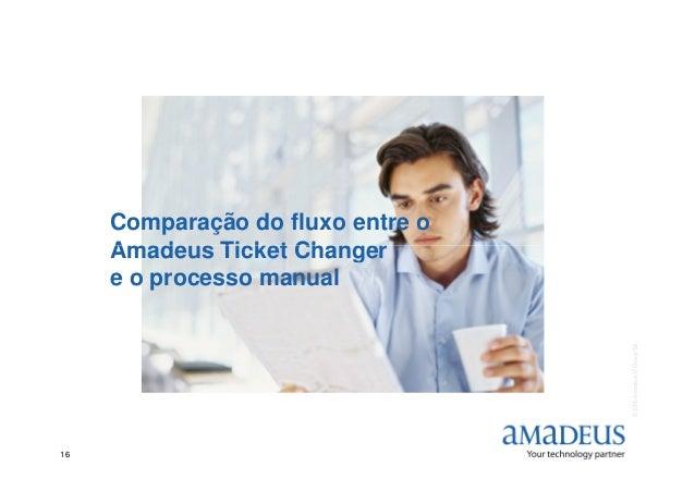 Comparação do fluxo entre o Amadeus Ticket Changer ©2006AmadeusITGroupSA 16 Amadeus Ticket Changer e o processo manual