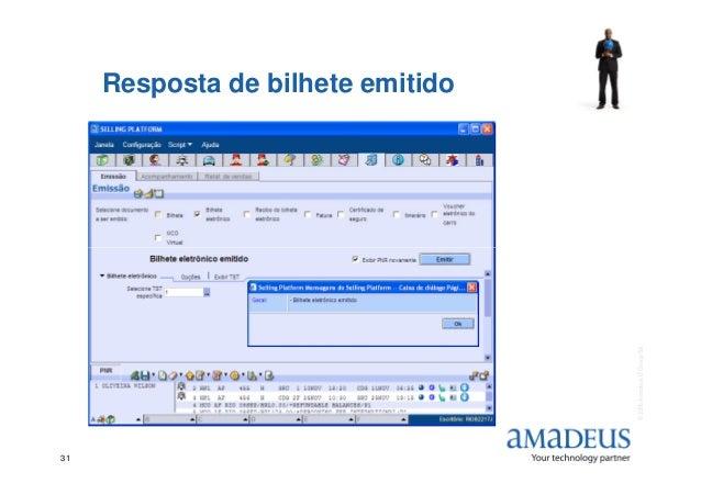 Resposta de bilhete emitido ©2006AmadeusITGroupSA 31