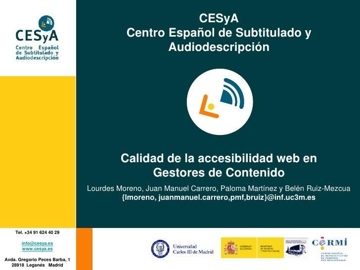 CESyA                                           Centro Español de Subtitulado y                                           ...
