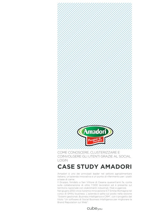 Case study Amadori & Cubeyou