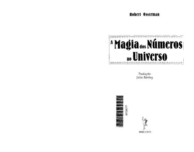 A magia dos números no universo (robert osserman)