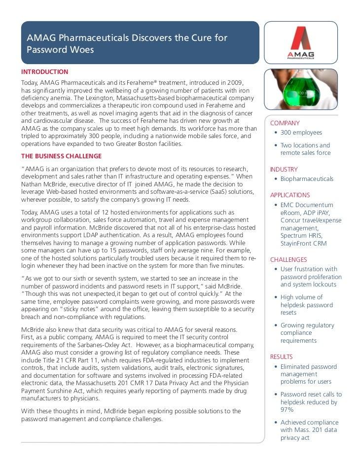 AMAG Pharmaceuticals Success Story