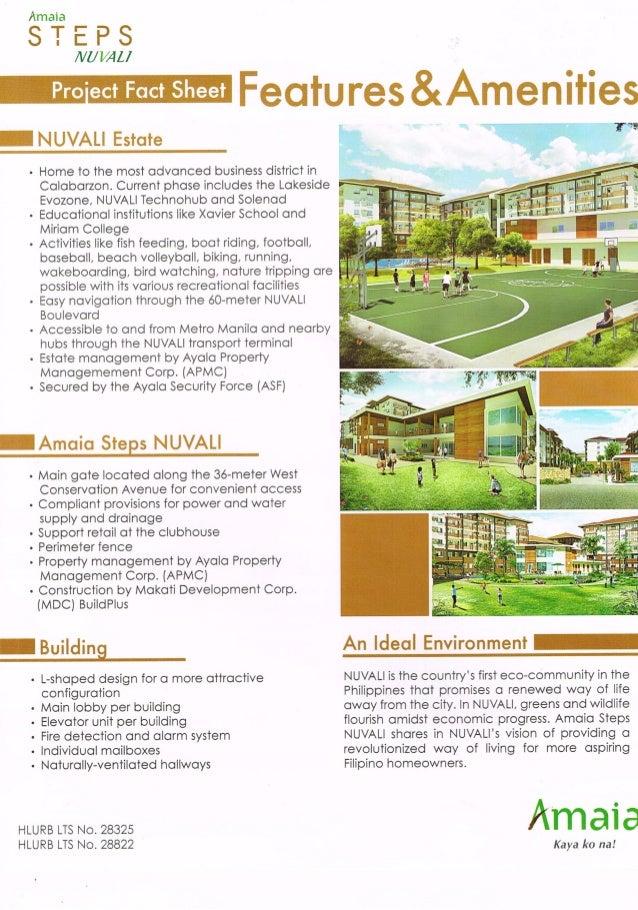 Amaia Steps Nuvali Factsheet