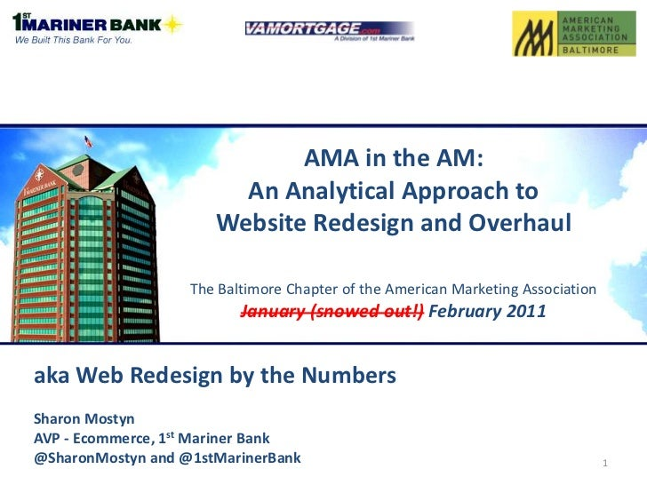 AMA in the AM: An Analytical Approach to Website Redesign and OverhaulThe Baltimore Chapter of the American Marketing Asso...