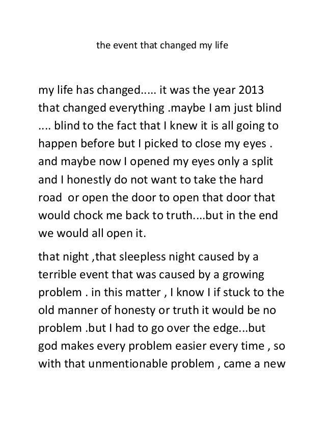 Life event essay