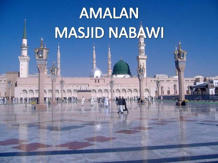 AMALAN<br />MASJID NABAWI<br />