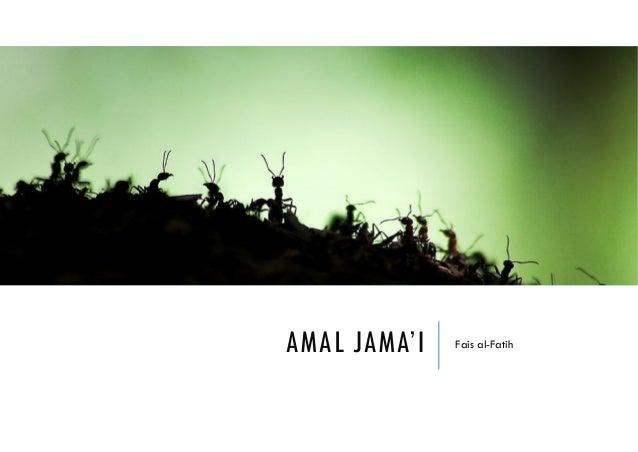 AMAL JAMA'I Fais al-Fatih