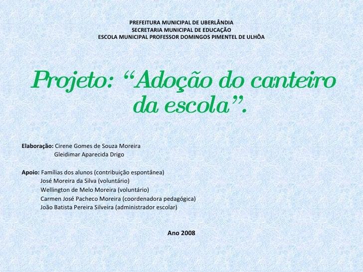 PREFEITURA MUNICIPAL DE UBERLÂNDIA                                     SECRETARIA MUNICIPAL DE EDUCAÇÃO                   ...